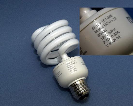 Bóng đèn huỳnh quang compact tiết kiệm điện cũng tiềm ẩn những mối nguy cho sức khỏe