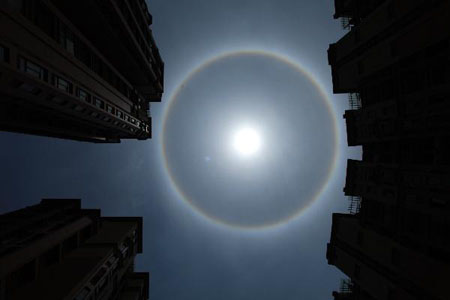 TQ: Xuất hiện hào quang lạ xung quanh mặt trời