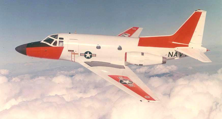 Một chiếc phi cơ T-39D Sabreliner của hải quân Mỹ.