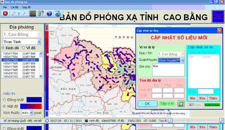Công bố bản đồ số phóng xạ tự nhiên Cao Bằng