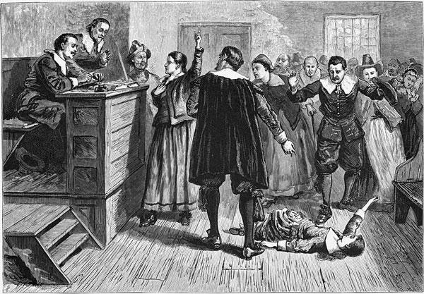 Một trong số các cô gái mắc chứng cuồng loạn tập thể bị quy kết là phù thủy ở Salem.