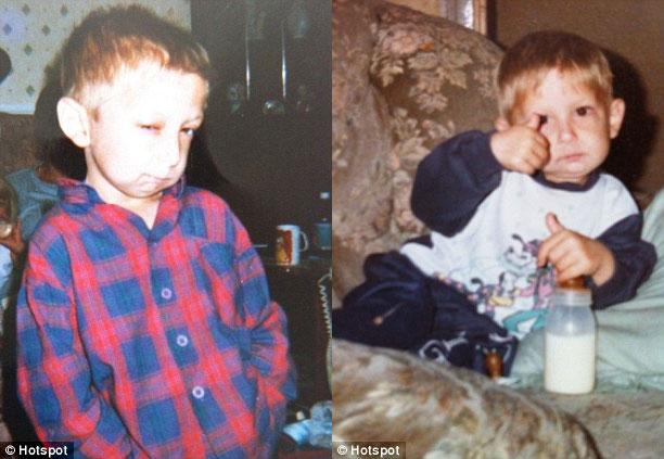 Dean Andrews khi còn nhỏ
