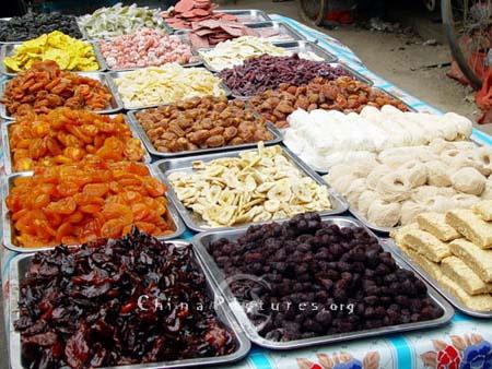 Nhiều loại quả mứt, quả sấy của Trung Quốc chứa phụ gia cực độc.