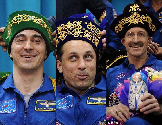 Ba nhà du hành vũ trụ (từ trái qua): Anatoly Ivanishin, Anton Shkaplerov, Daniel Burbank