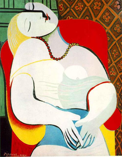 """Bức tranh """"Giấc mơ"""" của danh họa Picasso."""