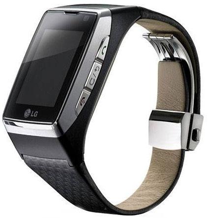 LG đã sản xuất mẫu đồng hồ GD910 với màn hình  cảm ứng, tính năng phát nhạc MP3.