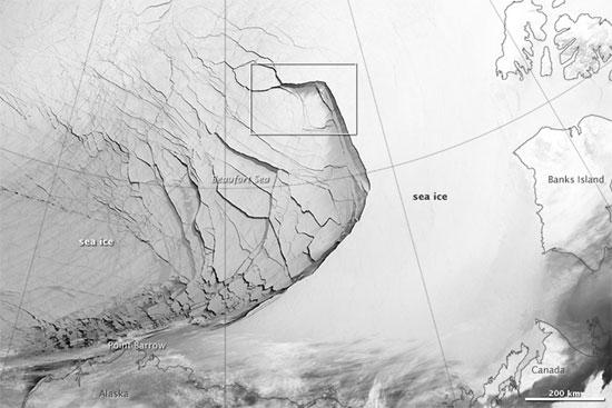 Xem băng tan qua vệ tinh