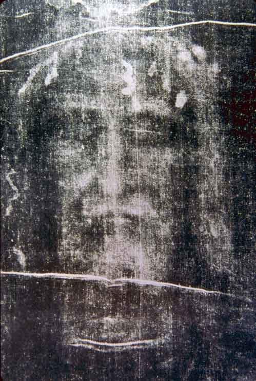 Hình ảnh trên tấm vải liệm Turin