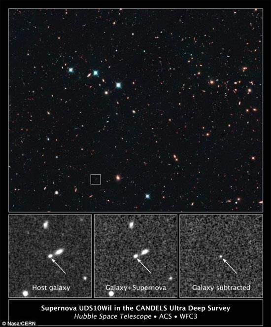 Hình ảnh kính viễn vọng không gian Hubble vừa chụp được.