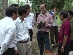 Đoàn kiểm tra tại nhà ông Nguyễn Hoài Thanh.