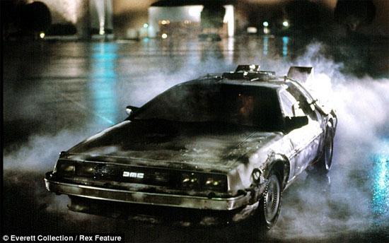 Chiếc xe ô tô thời gian trong bộ phim viễn tưởng của Mỹ.