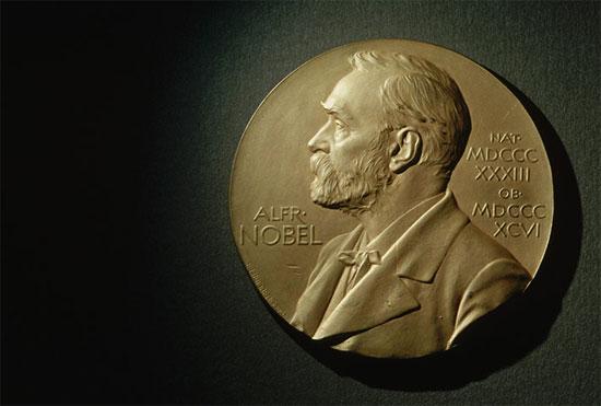 Huy chương giải Nobel.
