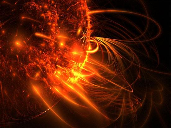 Bão mặt trời vô can với động đất