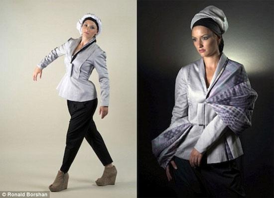 Loại vải này có thể thay đổi màu sắc và hình dạng theo cử động của người mặc.