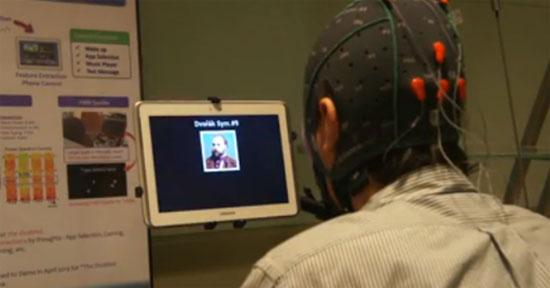 Thử nghiệm tính năng điều khiển tablet bằng não