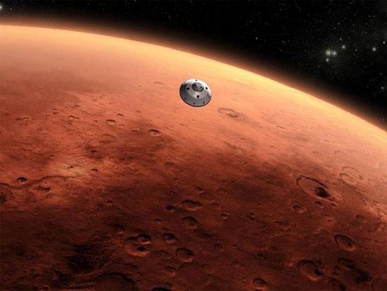 Tàu Curiosity của NASA đáp xuống sao Hỏa năm 2012.