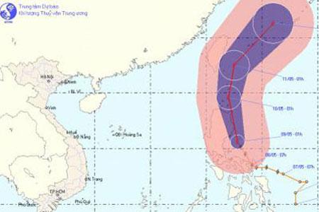 Xuất hiện bão mạnh trên biển Đông