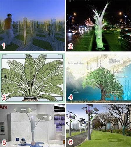Cây nhân tạo cung cấp năng lượng và môi trường xanh
