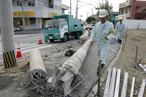 Bão Songda tấn công vào miền nam Nhật Bản