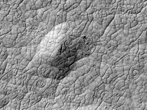 Phát hiện nhiều cột dung nham lạ trên sao Hỏa