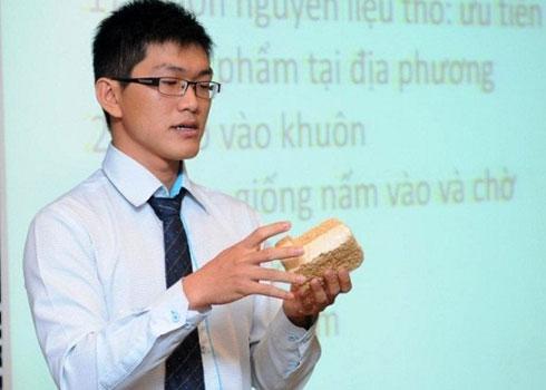 Chàng sinh viên và giấc mơ chế tạo bao bì từ nấm
