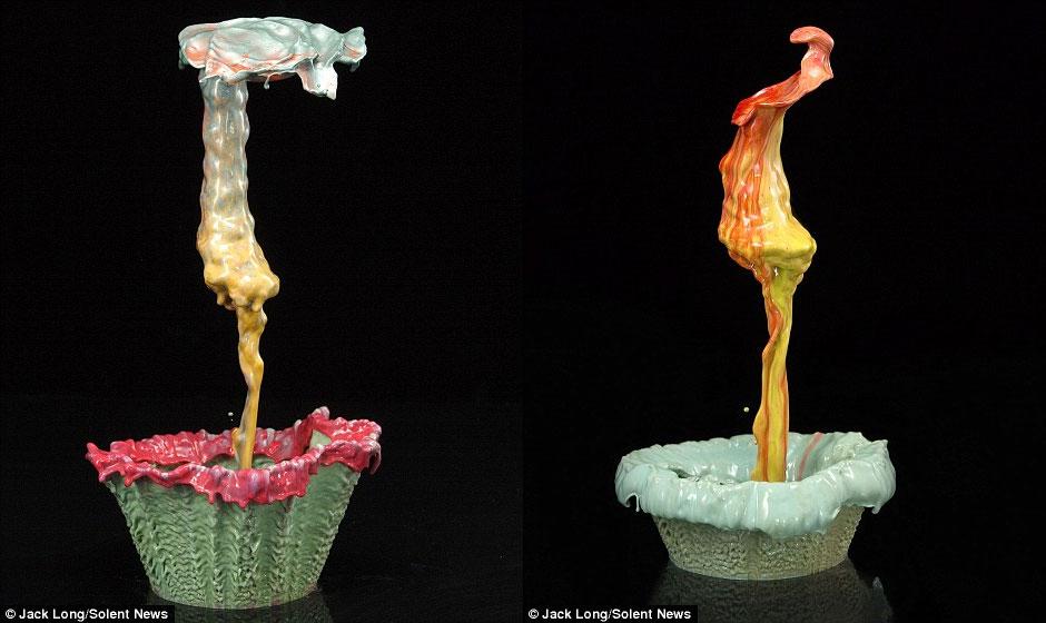 Hình ảnh: Hoa làm từ những giọt sơn rơi