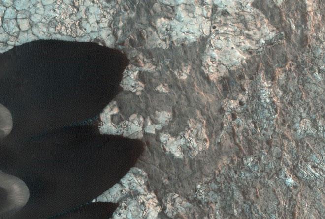 Bề mặt sao Hỏa vẫn không ngừng hoạt động