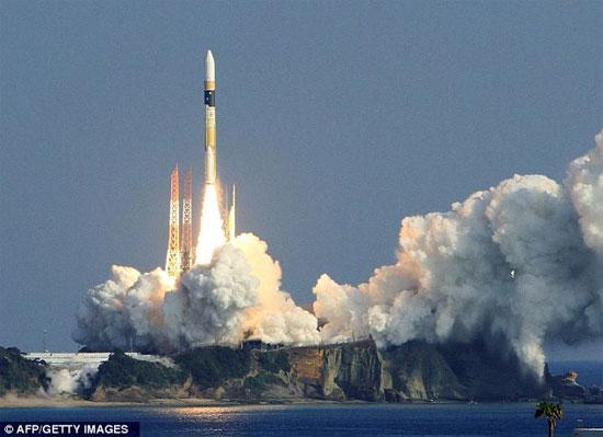 Một vụ phóng vệ tinh do thám của Nhật Bản.