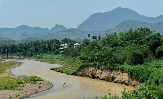 Khúc sông Mekong ở Lào.