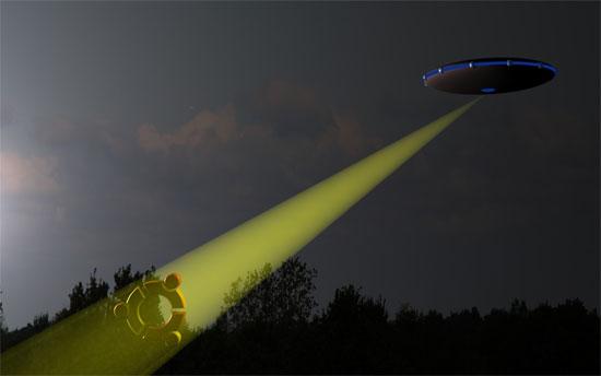 Hình minh họa vật thể bay không xác định.