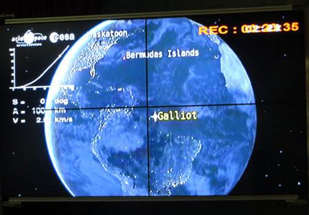 Hình ảnh quỹ đạo mà tên lửa VEGA sẽ bay tới