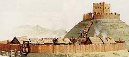 Những lâu đài đầu tiên ở Châu Âu được xây nên từ gỗ