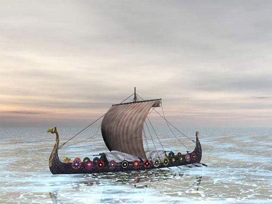 Táng trên thuyền của người viking