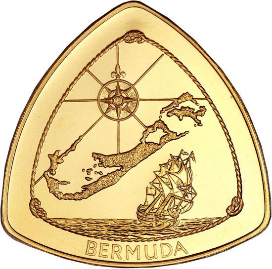 Tiền xu hình tam giác quỷ Bermuda