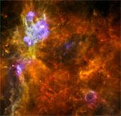 """Các ngôi sao khổng lồ được tạo ra từ """"vườn ươm sao"""""""