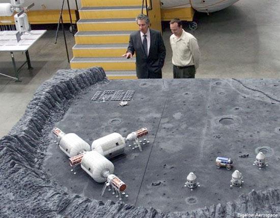 Xây căn cứ trên Mặt trăng để khai mỏ