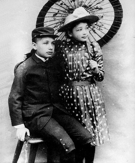 Einstein cùng em gái thời thơ ấu