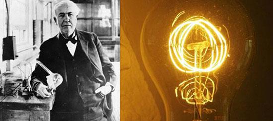 Edison và chiếc đèn điện đã vang danh khắp thế giới