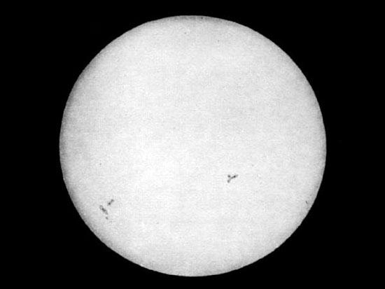 Bức hình đầu tiên chụp mặt trời