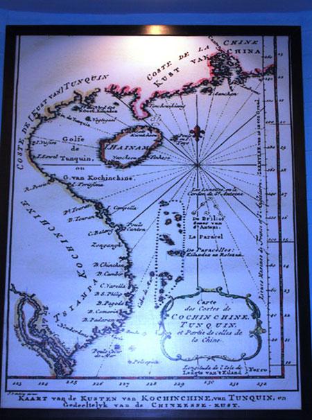 Bản đồ biển Đông do người Hà Lan vẽ năm 1754