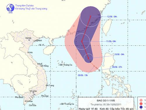 Áp thấp nhiệt đới mạnh lên thành bão