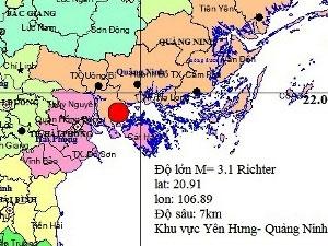 Động đất tại tỉnh Quảng Ninh