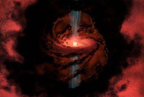 """Phát hiện ngôi sao bắn """"đạn nước"""" trong vũ trụ"""