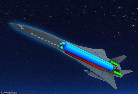 Ảnh mô phỏng mẫu máy bay siêu thanh ZEHST