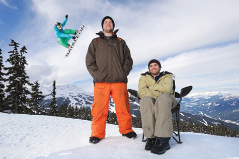 Ván trượt tuyết đáp đất an toàn