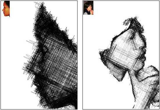"""""""Người máy họa sĩ"""" đã ra mắt công chúng tại triển lãm nghệ thuật Kinetica ở London và vẽ hơn 100 khuôn mặt trong hơn 2 ngày"""