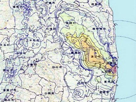 Nhật công bố bản đồ tích lũy phóng xạ