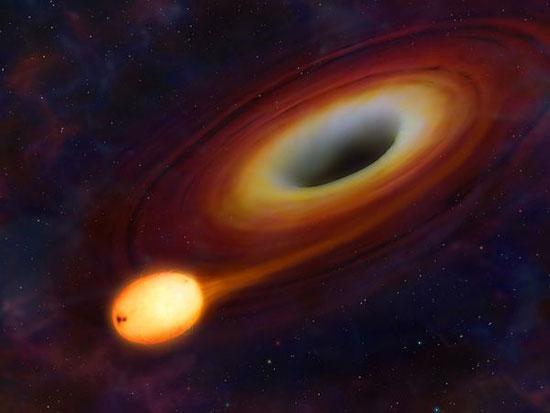Xem lỗ đen nuốt chửng một vì sao