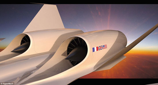 Máy bay siêu âm từ London đi New York mất 2 giờ