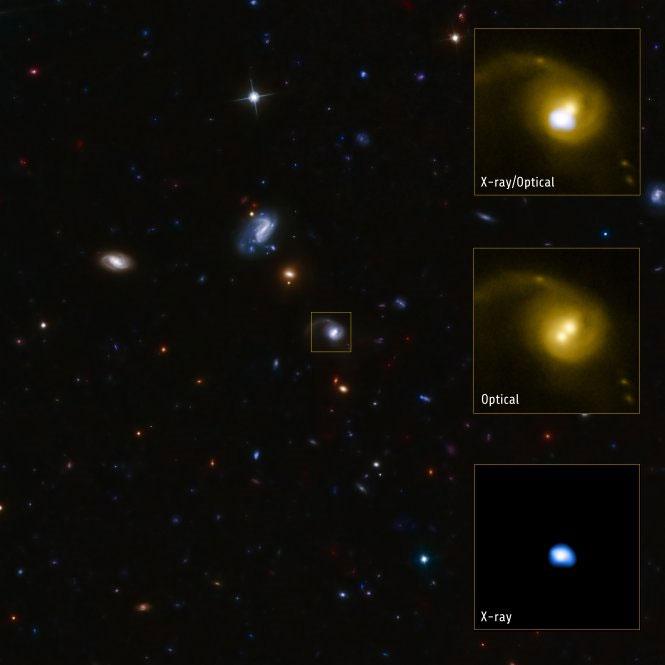 Hình chụp qua thiết bị của Đài thiên văn quang tuyến Chandra